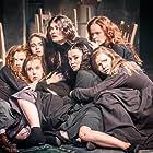 Natalie Gavin, Marama Corlett, Samantha Colley, Zara White, Daisy Waterstone, Lauren Lyle, and Hannah Hutch in The Crucible (2014)