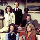 Farrah Fawcett, Kate Jackson, Jaclyn Smith, David Ogden Stiers, and David Doyle in Charlie's Angels (1976)