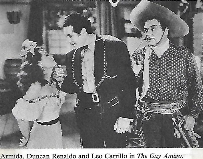 Armida, Leo Carrillo, and Duncan Renaldo in The Gay Amigo (1949)