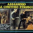 Elvire Audray, Giovanni Lombardo Radice, and John Saxon in Assassinio al cimitero etrusco (1982)
