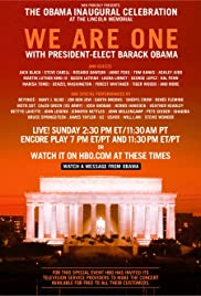 We Are One: The Obama Inaugural Celebration at the Lincoln Memorial (2009) Poster - TV Show Forum, Cast, Reviews