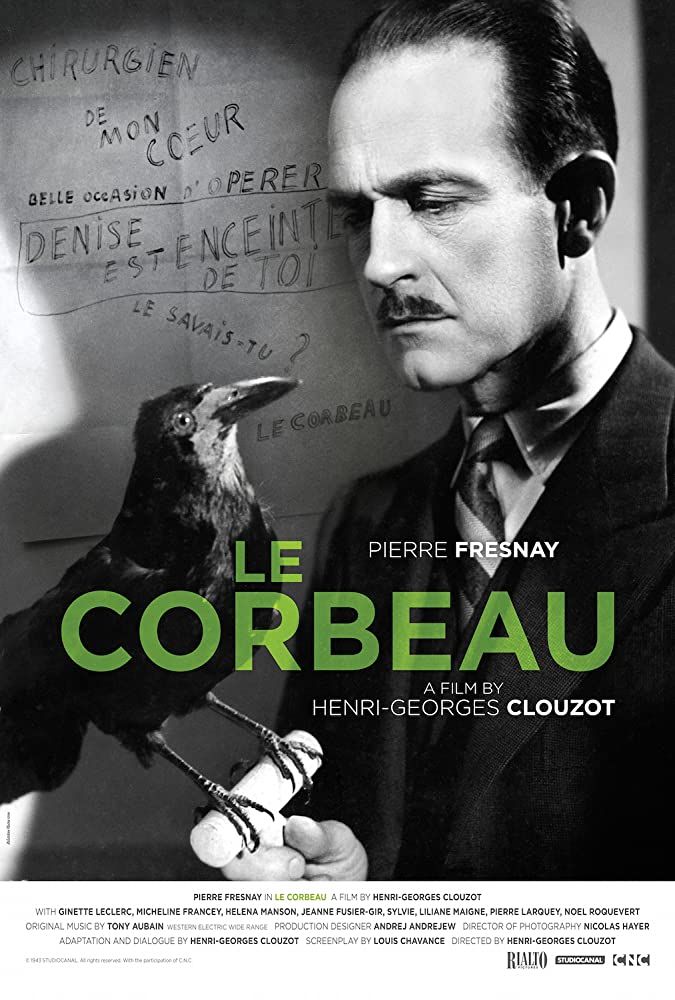 Micheline Francey, Pierre Fresnay, Ginette Leclerc, and Héléna Manson in Le corbeau (1943)