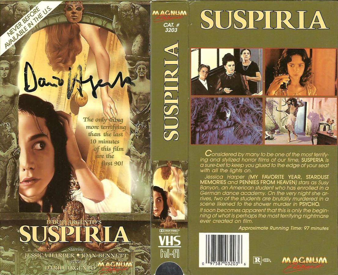 Image result for suspiria 1977 vhs cover
