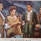 Maureen O'Hara, Binnie Barnes, Paul Henreid, and John Emery in The Spanish Main (1945)