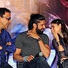Vidhu Vinod Chopra, Farhan Akhtar, Bejoy Nambiar, and Aditi Rao Hydari at an event for Wazir (2016)
