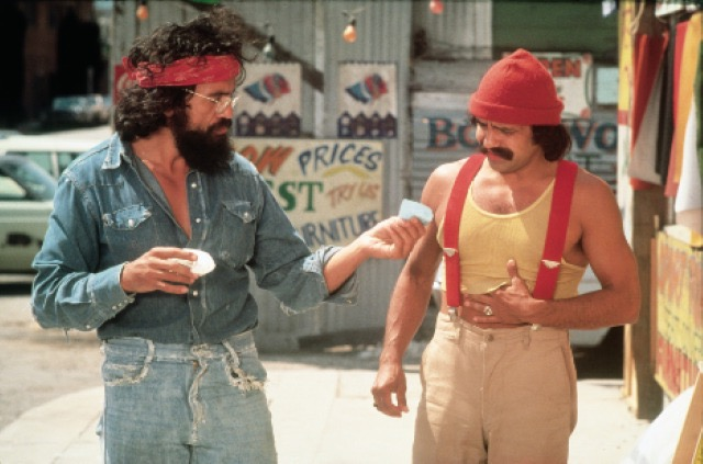 Tommy Chong and Cheech Marin in Up in Smoke (1978)
