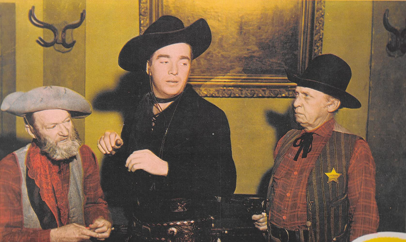 Raymond Hatton Lash La Rue and Al St John in The Daltons Women 1950