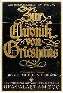 Movies hq free download Zur Chronik von Grieshuus by F.W. Murnau [hd1080p]