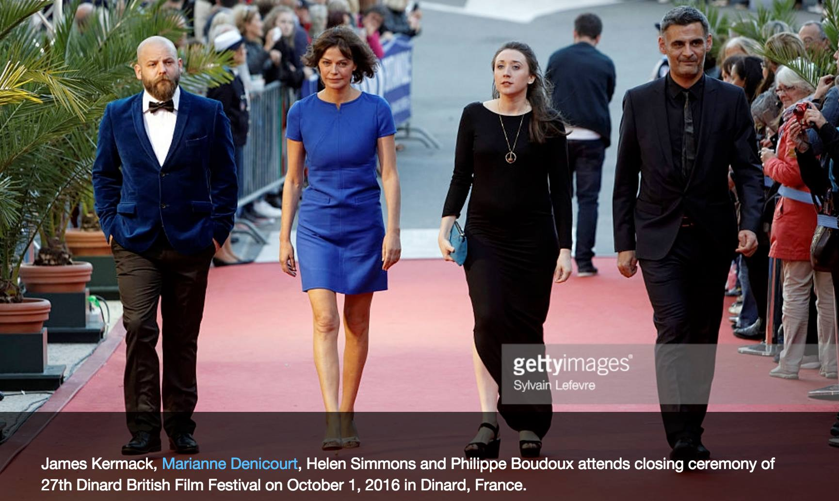 The judges of the first ever 'Shortcuts Jury' walking the red carpet at the 27th Dinard British Film Festival - 2016.