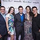 Actors Rey Lopez, Ruby Mercado, Jeremy Andorfer-Lopez, Alexis B. Santiago, and Rafael I. Molina at the Red Carpet Premiere of 'Bridesman' at the Loz Feliz 3 on May 6, 2016 in Los Angeles, California.