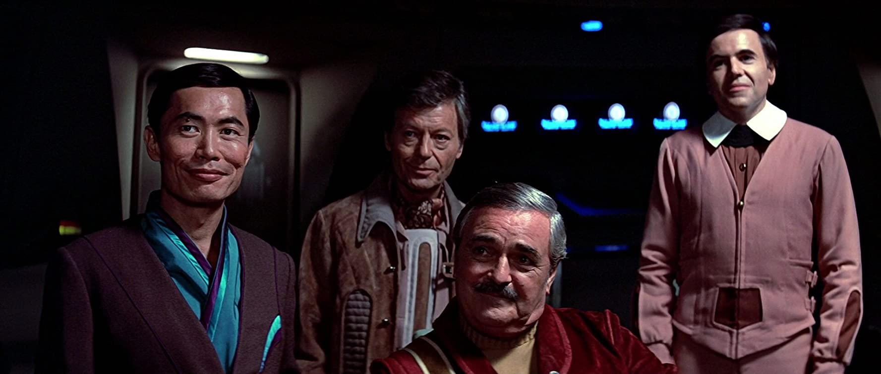 Walter Koenig, James Doohan, DeForest Kelley, and George Takei in Star Trek III: The Search for Spock (1984)