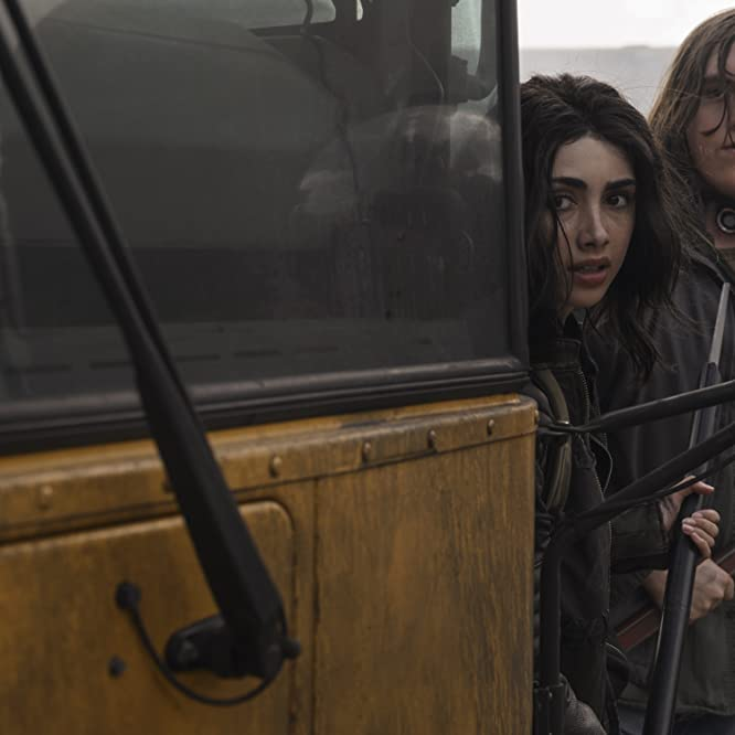 Hal Cumpston and Alexa Mansour in The Walking Dead: World Beyond (2020)