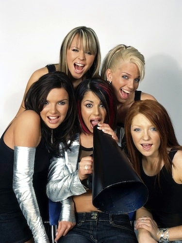 Cheryl, Kimberley Walsh, Nadine Coyle, Sarah Harding, Nicola Roberts, and Girls Aloud