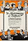 Is Matrimony a Failure?