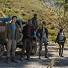 Giancarlo Esposito, Thomas Brodie-Sangster, Dexter Darden, Dylan O'Brien, and Rosa Salazar in Maze Runner: The Death Cure (2018)