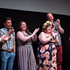 Pete Zias, Colby Holt, Sam Probst, Anna Schlegel, and Tony Jacksha at an event for Pig Hag (2019)