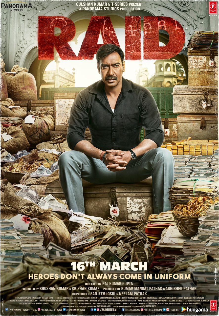 RAID (2018) Hindi Movie 480p BluRay x264 ESubs 450MB