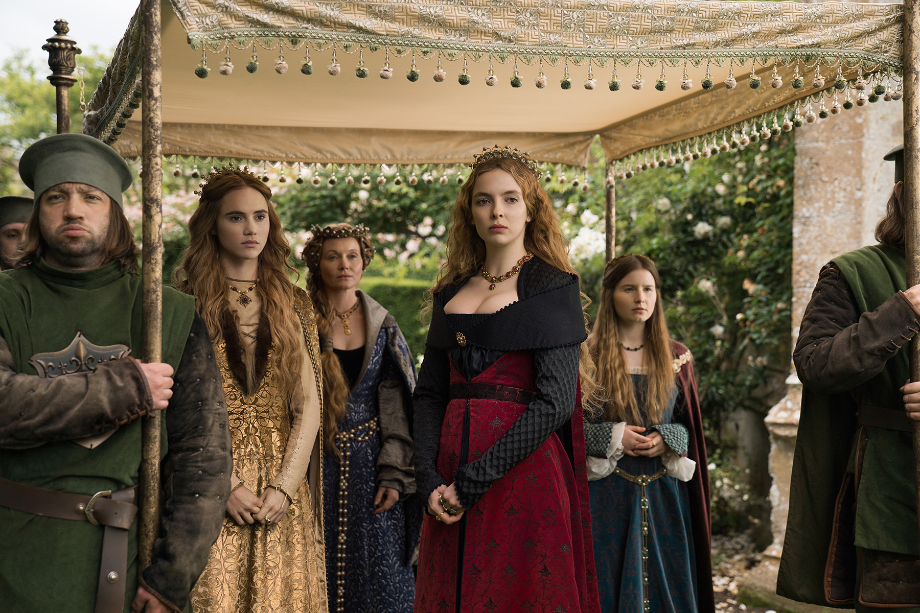 Essie Davis, Jodie Comer, Suki Waterhouse, and Rebecca Benson in The White Princess (2017)