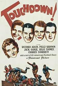 Richard Arlen, Jack Oakie, Peggy Shannon, Charles Starrett, and Regis Toomey in Touchdown! (1931)