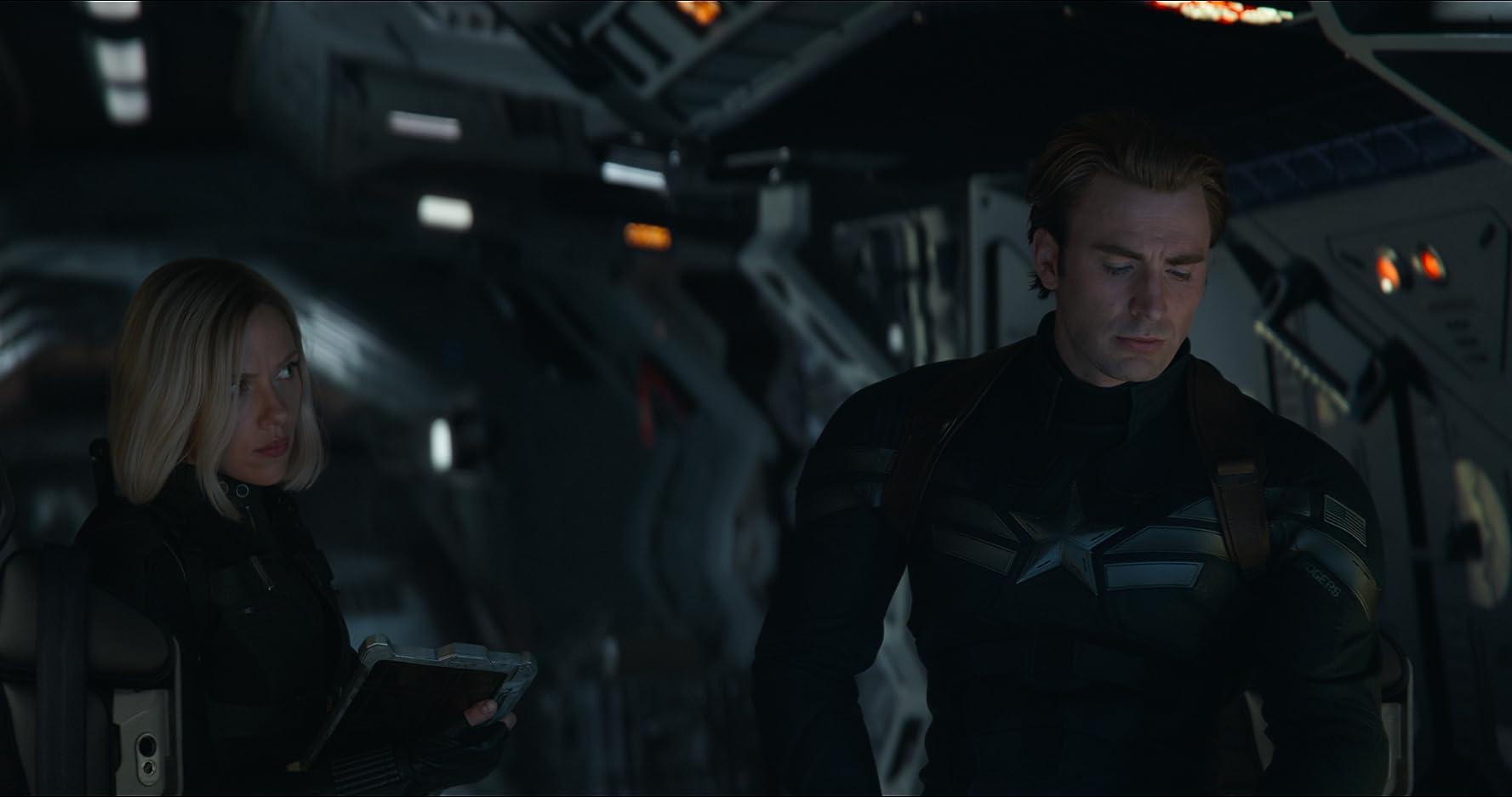 Chris Evans and Scarlett Johansson in Avengers: Endgame (2019)