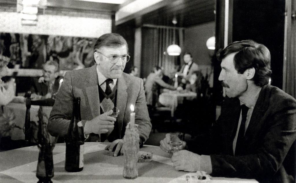 Slobodan Dimitrijevic and Velimir 'Bata' Zivojinovic in Opasni trag (1984)