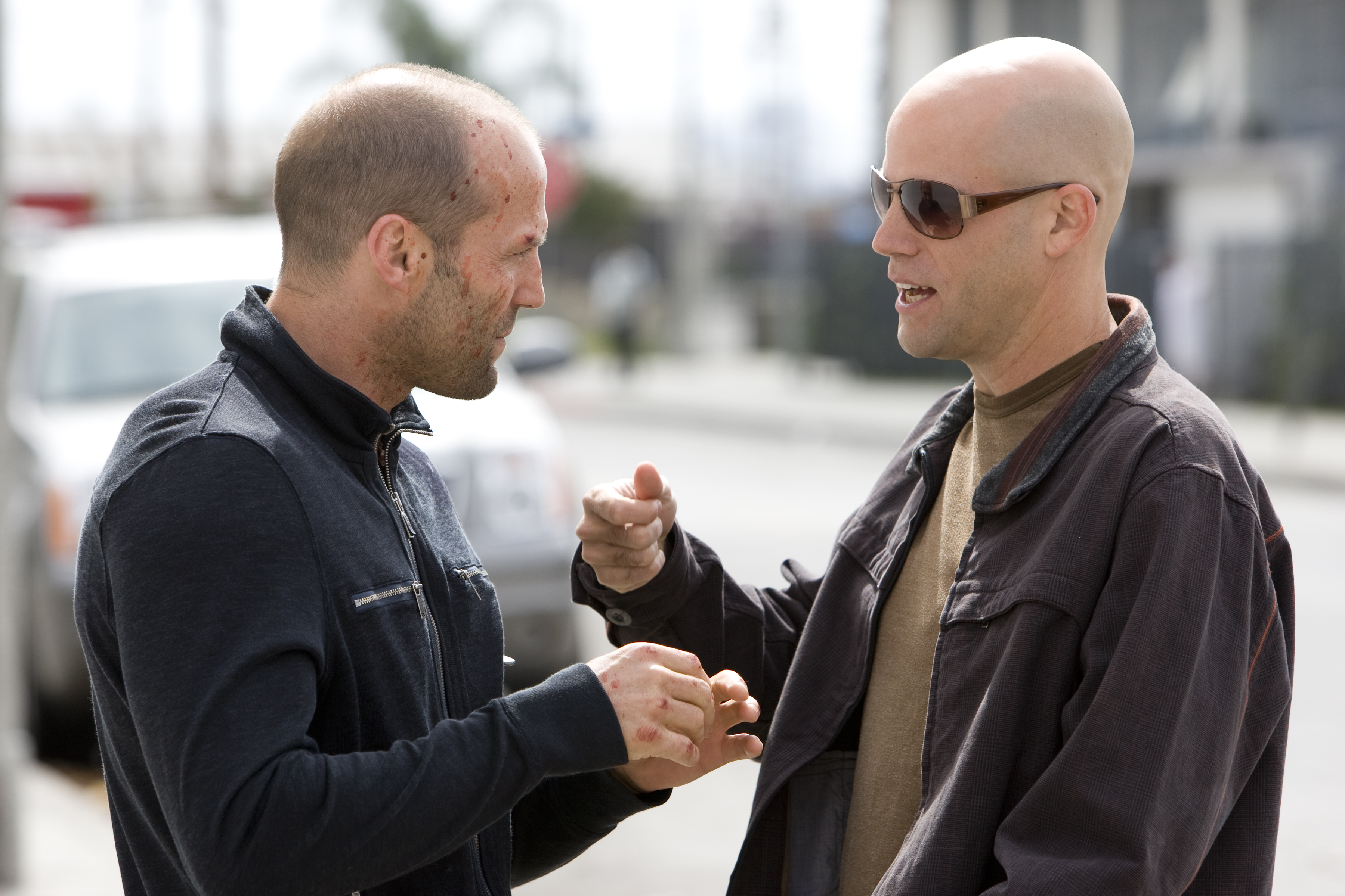 Jason Statham and Brian Taylor in Crank: High Voltage (2009)