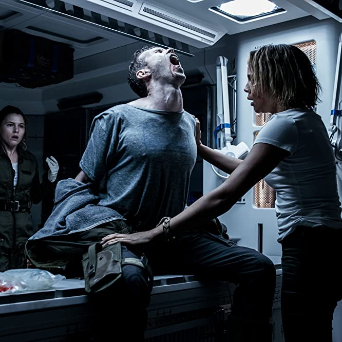 Carmen Ejogo, Amy Seimetz, and Benjamin Rigby in Alien: Covenant (2017)