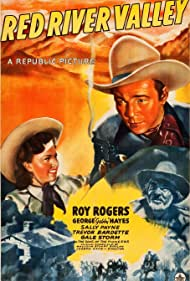 Roy Rogers, George 'Gabby' Hayes, and Sally Payne in Red River Valley (1941)