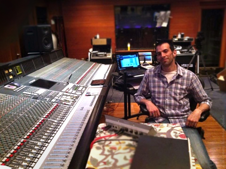 Daniele Carli at the Conway Recording Studios, Los Angeles.