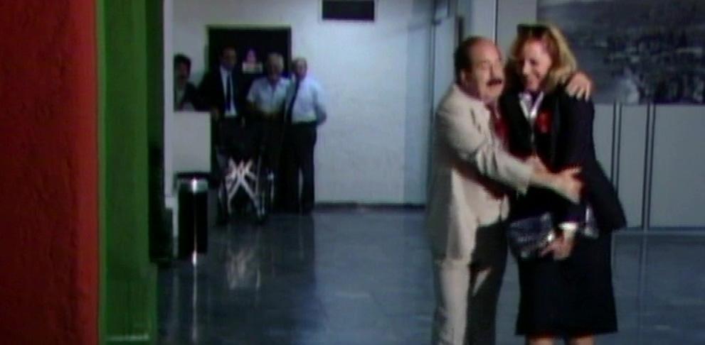 Haritini Karolou and Kostas Rigopoulos in O kerveros kai to doloma... (1987)