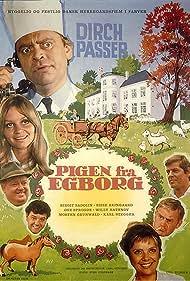 Morten Grunwald, Dirch Passer, Willy Rathnov, Sisse Reingaard, Birgit Sadolin, Ove Sprogøe, and Karl Stegger in Pigen fra Egborg (1969)