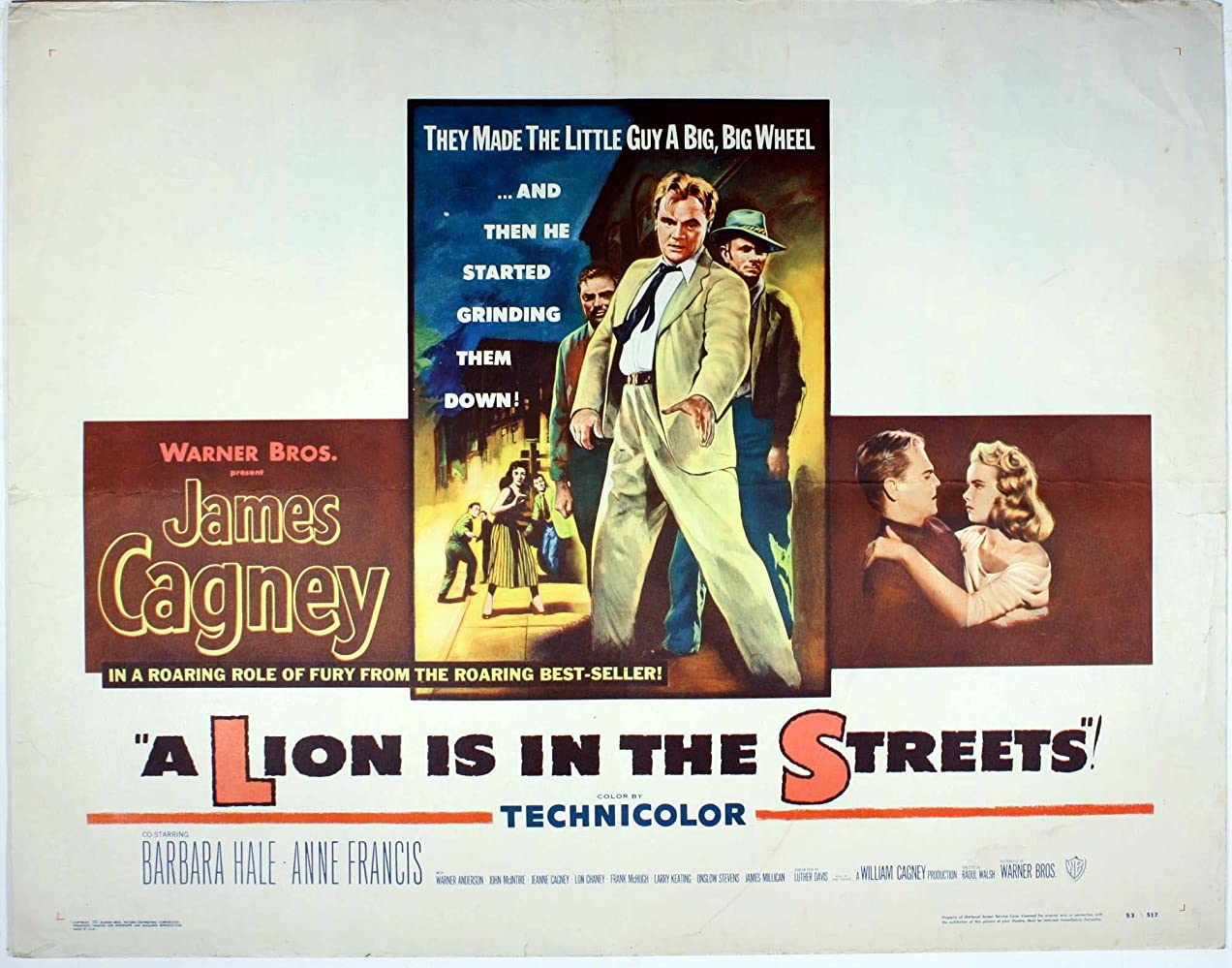 James Cagney and Anne Francis in A Lion Is in the Streets (1953)