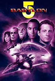 Bruce Boxleitner, Mira Furlan, Richard Biggs, Jerry Doyle, and Andreas Katsulas in Babylon 5 (1993)