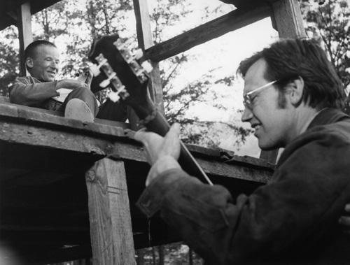 Ronny Cox and Billy Redden in Deliverance (1972)