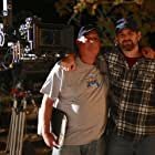 """Marc Ferrero (Producer) and Sean Robert Olson on the set of """"The Contractor"""""""