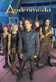 Kevin Sorbo, Laura Bertram, Keith Hamilton Cobb, Lexa Doig, Lisa Ryder, and Gordon Michael Woolvett in Andromeda (2000)