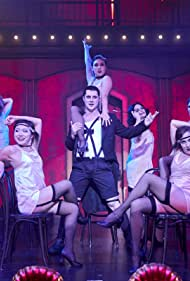 Jennifer Foster, Emily Hampshire, Noah Reid, Christina Song, Annie Murphy, Sarah Levy, and Mary Kelly in Life Is a Cabaret (2019)