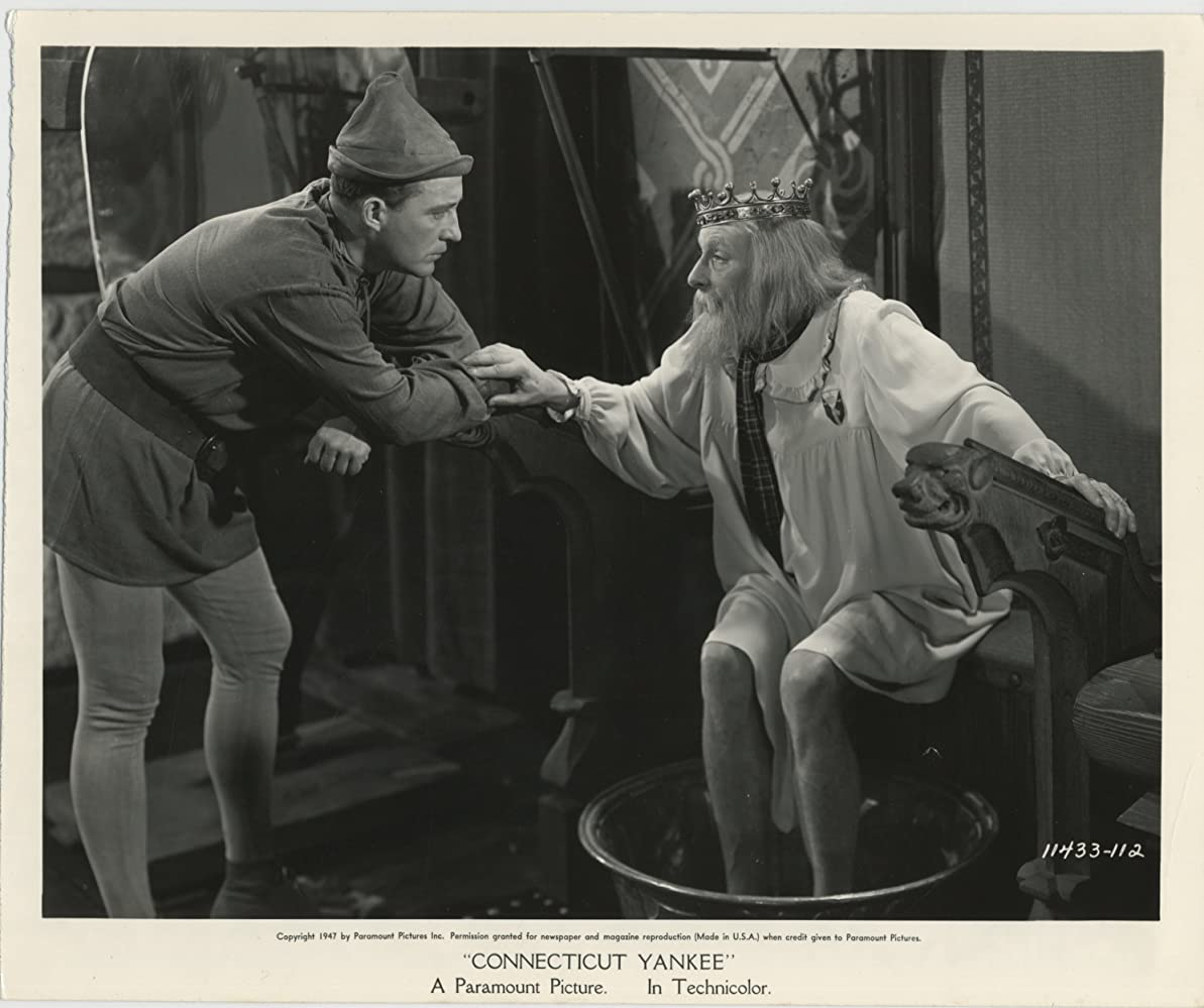 Bing Crosby and Cedric Hardwicke in A Connecticut Yankee in King Arthur's Court (1949)