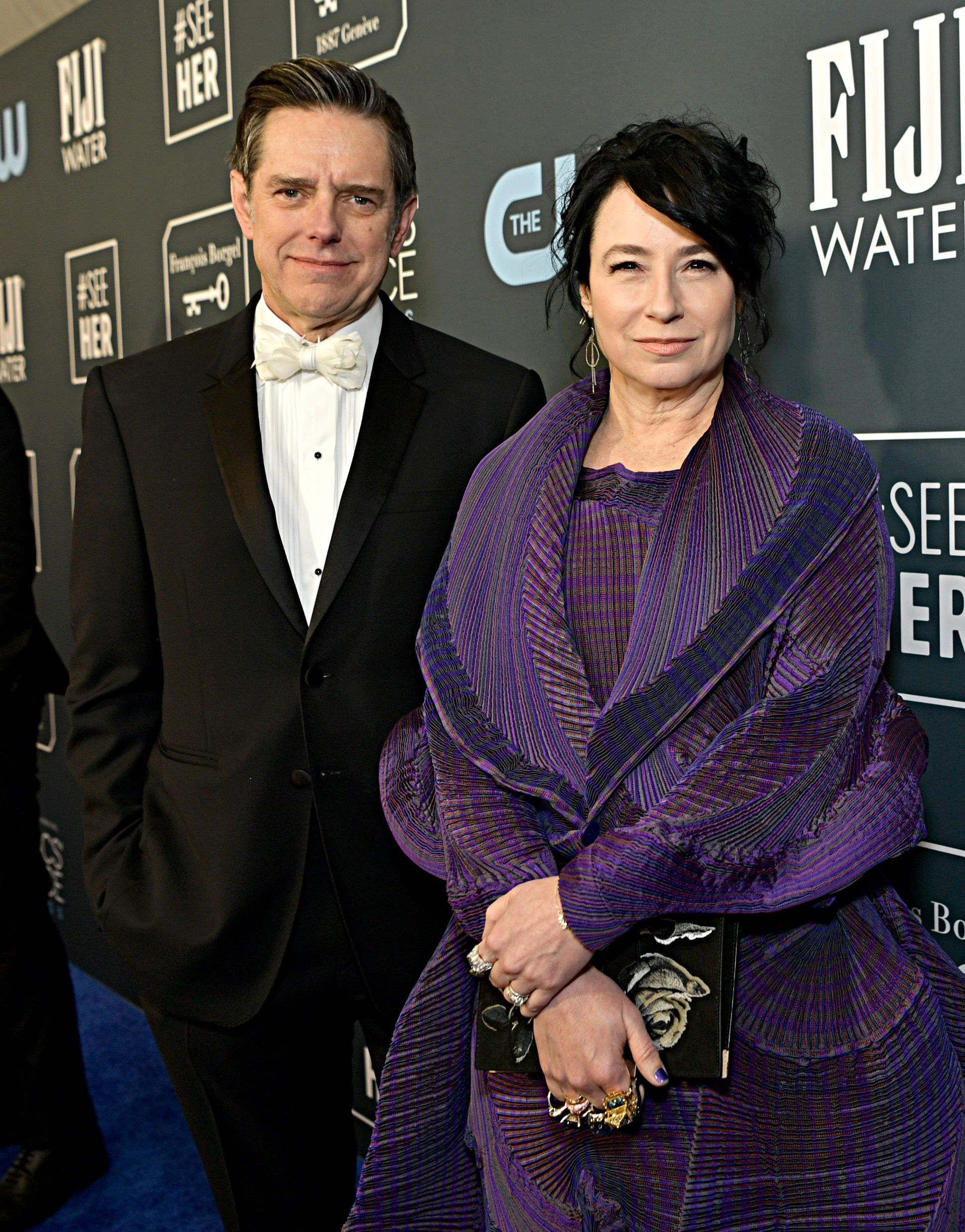 Daniel Palladino and Amy Sherman-Palladino at an event for The 25th Annual Critics' Choice Awards (2020)