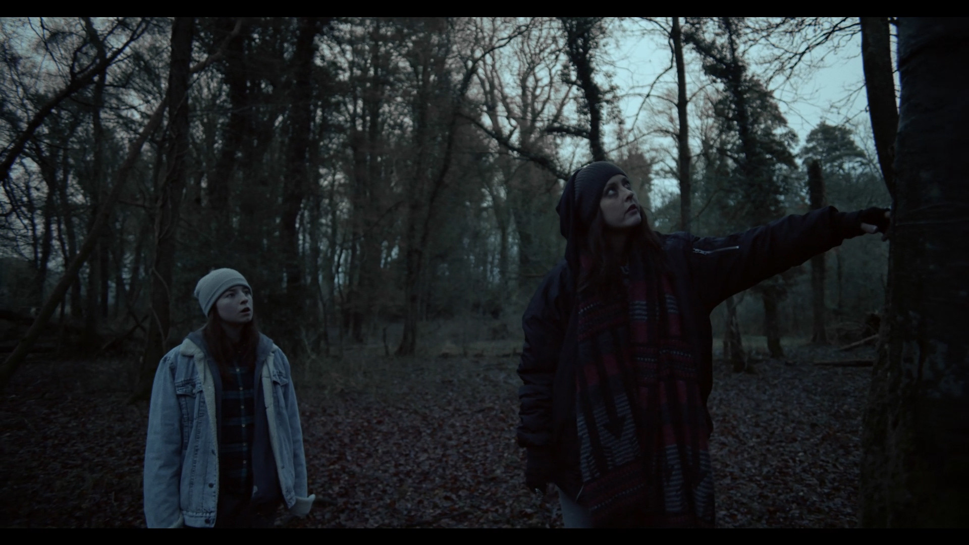 Katharine Isabelle, Randal Plunkett, and Hazel Doupe in The Green Sea