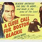 Richard Lane, Lynn Merrick, and Chester Morris in A Close Call for Boston Blackie (1946)