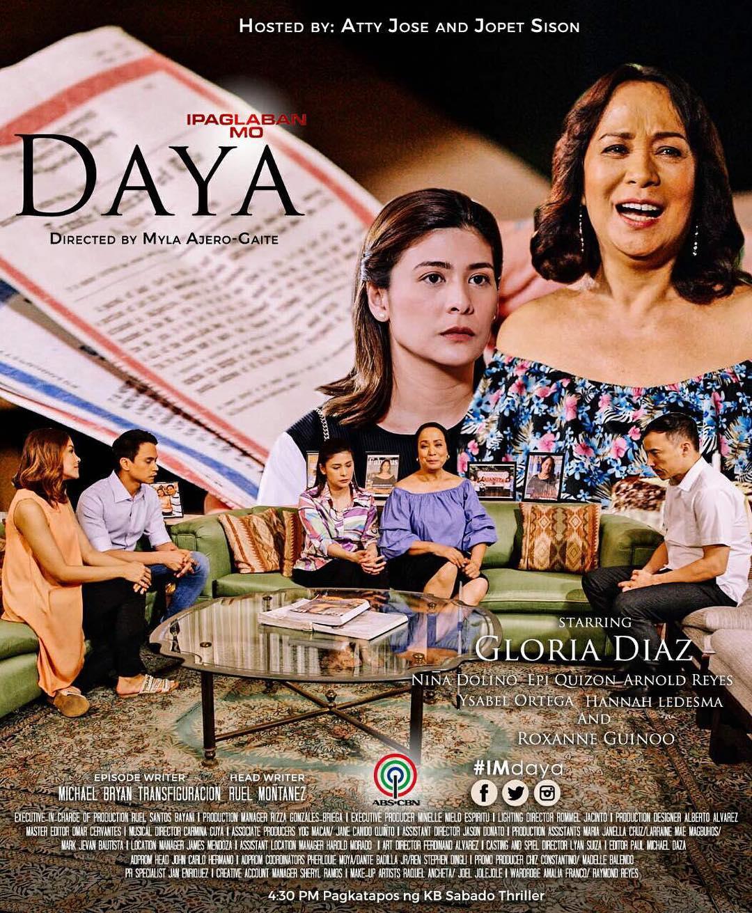 Gloria Diaz, Jeffrey Quizon, Roxanne Guinoo, Arnold Reyes, and Niña Dolino in Ipaglaban mo (2014)