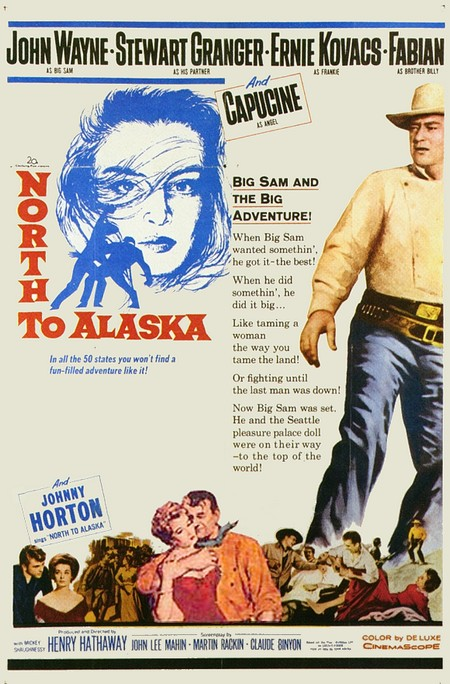 John Wayne, Capucine, Stewart Granger, and Fabian in North to Alaska (1960)