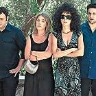 Sunny Hatziargyri, Aris Servetalis, Socratis Patsikas, Maria Solomou, Giorgos Chrysostomou, and Stefi Poulopoulou in S1ngles (2004)