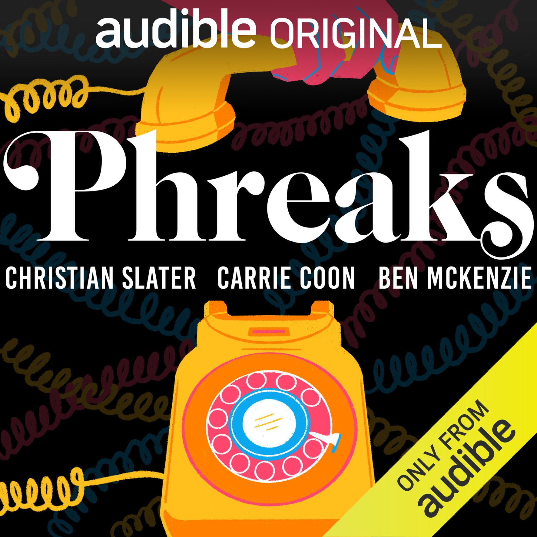 Christian Slater, Bree Klauser, and Carrie Coon in Phreaks (2020)