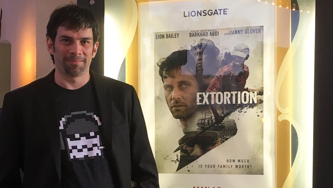 Daniele Carli at the Lionsgate premiere of Extortion. Regency Bruin Theater, Los Angeles.