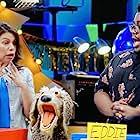 Julianne Buescher, Karina Yzobel, and Edward Mawere in Muppets Now (2020)