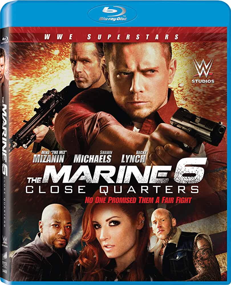 Shawn Michaels, Terence Maynard, Mike 'The Miz' Mizanin, Rebecca Quin, and Martyn Ford in The Marine 6: Close Quarters (2018)