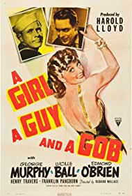 Lucille Ball, George Murphy, and Edmond O'Brien in A Girl, a Guy, and a Gob (1941)