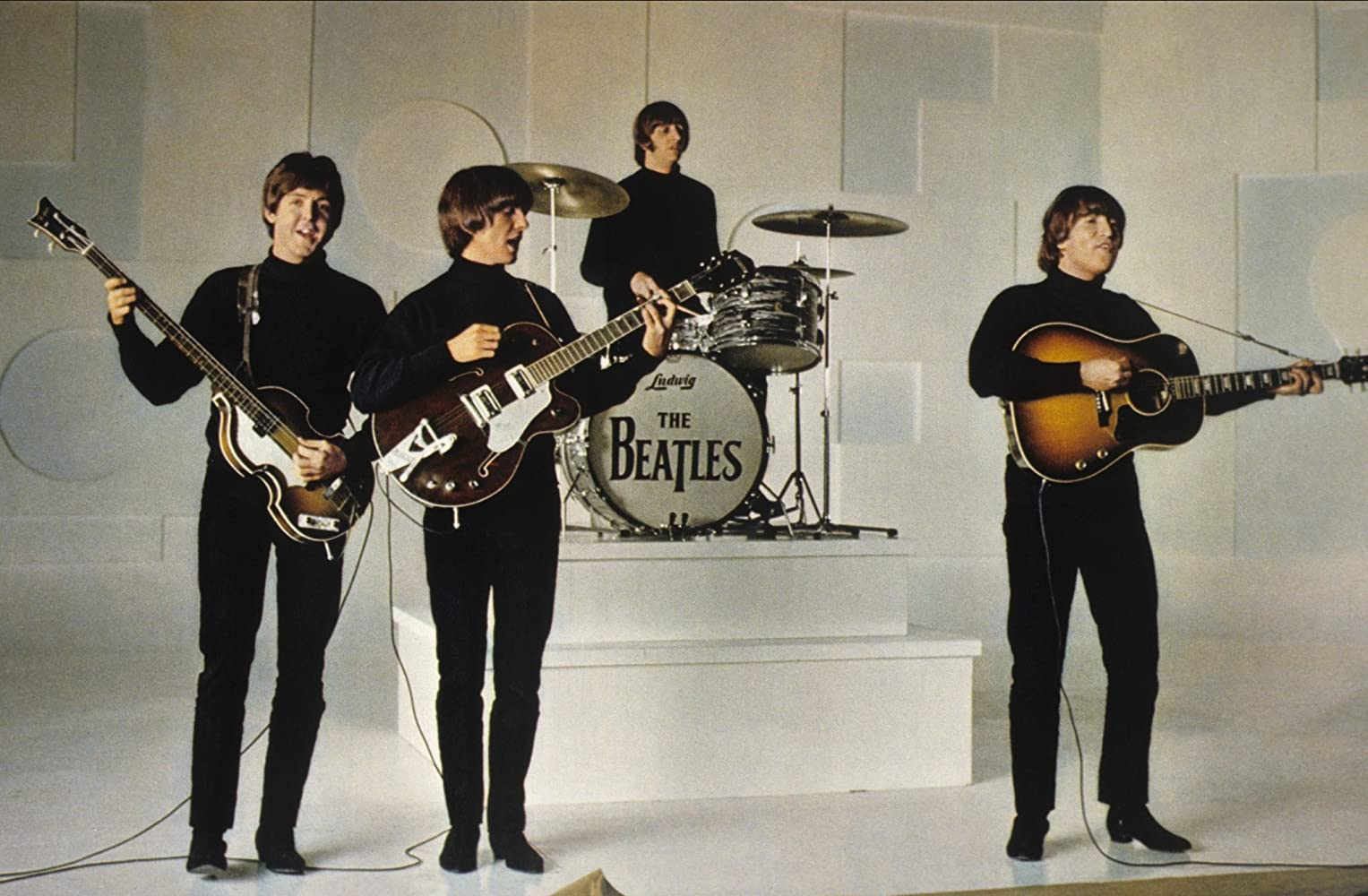 Paul McCartney John Lennon George Harrison Ringo Starr and The Beatles in Help 1965